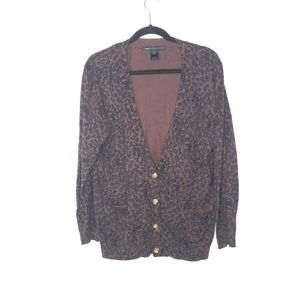 Marc By Marc Jacobs Leopard Button Down Cardigan